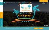 screenshot http://www.campingdes2plages.fr camping à Saint palais sur mer près de Royan