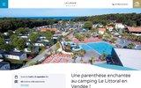 screenshot http://www.campinglelittoral.fr/ camping le littoral - location vacances camping littoral vendée