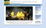 screenshot http://www.canoe-en-ardeche.com canoe en ardèche