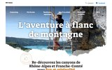 screenshot http://www.canyoning-escalade.com canyoning ain, jura et location mur mobile en france