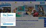 screenshot http://www.capjuniors.com agence de voyages colonie vacance pour les 4 à 25 ans