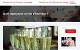 screenshot http://www.cellierdestempliers.fr cave cellier des templiers à richerenches