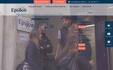 screenshot http://www.centreepsilon.com/ préparation aux concours de médecine sur paris