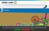 screenshot http://www.cg71.fr site officiel du conseil général 71