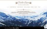 screenshot http://www.chaletarpin.com pour votre séjour en station de ski