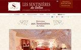 screenshot http://www.chambre-hote-sentinieres.com chambre d'hôte romantique en touraine 37210