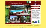 screenshot http://www.chanteperdrix.com/ chambre d'hôtes ardèche du sud à rosières : domaine de chanteperdrix