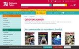 screenshot http://www.citoyen-junior.fr/ devenir citoyen : magazine enfant citoyen junior