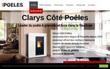 screenshot http://www.clarys.fr cheminées contemporaines clarys