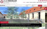 screenshot http://www.cle-immobilier.com terrains constructibles près de Bourges