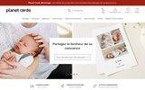screenshot http://www.clicpostal.com remerciement naissance