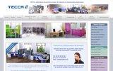 screenshot http://www.cloisons-bureaux.fr TECCA cloisonne tous vos espaces professionnels et bureautiques