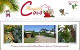 screenshot http://www.coco-bungalow-guadeloupe.com/ bungalows pour les vacances en Guadeloupe