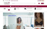 screenshot http://www.comptoirdesdessous.com/ lingerie de grande marque