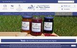 screenshot http://www.confitures-artisanales.fr/ confitures artisanales du vieuxc chérier