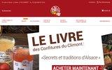 screenshot http://www.confituresduclimont.com/ confitures du climont