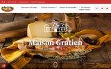 screenshot http://www.conserverie-gratien.com conserverie gratien - vente en ligne produits du terroir, foie gras, piments d'espelette, confits...