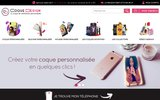 screenshot http://www.coque-design.com Coques personnalisées