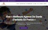 screenshot http://www.coteenfants.fr garde d'enfants à domicile
