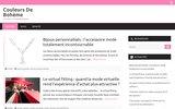 screenshot http://www.couleursdeboheme.com produits cosmétiques originaux bohème