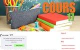 screenshot http://www.cours17.fr cours17 association de soutien scolaire dans le 17