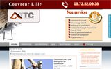 screenshot http://www.couvreurlille.com couvreur Lille