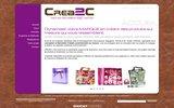 screenshot http://www.crea2c.fr crea2c est le spécialiste du goodies et du packaging sur mesure.