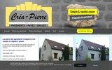 screenshot http://www.creapierre.fr pierre de parement en matériaux reconstituées pour intérieur ou extérieur