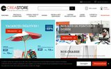 screenshot http://www.creastore.com creastore, matériel beaux-arts, peinture, dessin,