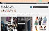screenshot http://www.createur-de-mode.net boutique en ligne malam createur de mode