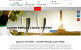 screenshot http://www.croisieres-en-seine.fr croisieres en seine, réceptions en ile de france - croisieres sur la seine, oise et marne