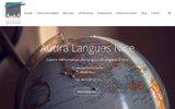 screenshot http://www.cyber-langues.com cours langues étrangères par téléphone à nice.