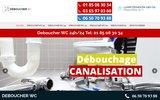 screenshot http://www.deboucher-wc.com/ Déboucher WC