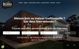 screenshot http://www.delrieu-construction.com maison ossature bois et ecologique delrieu