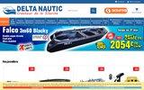 screenshot http://www.deltanautic.fr/ delta nautic : barques et matériels de pêche