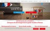 screenshot http://www.demenageurs-rennes.com déménageur toopar'vit - déménagement