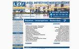screenshot http://www.detective-brun.com languedoc détective investigations cabinet brun