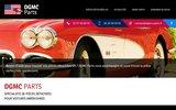 screenshot http://www.dgmc-parts.fr pièces détachées de voitures américaines