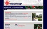 screenshot http://www.digiconcept.be bureau d'étude en ingénierie électronique