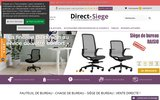 screenshot http://www.direct-siege.com vos sièges de bureau en un seul clic