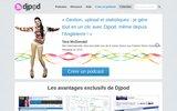 screenshot http://www.djpod.fr djpod - hébergement de podcast pour dj