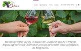 screenshot http://www.domaine-de-coutancie.com gite en dordogne propose des vins de bergerac.