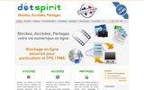 screenshot http://www.dotspirit.com dotspirit - stockage en ligne