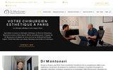 screenshot http://www.dr-montoneri.fr/ chirurgien plasticien à paris, chirurgie esthétique