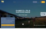 screenshot http://www.dubecq-photovoltaique.com dubecq electricité