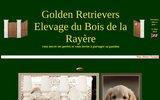 screenshot http://www.duboisdelarayere.com elevage de golden retrievers du bois de la rayere