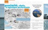 screenshot http://www.durance-granulats.com durance granulats, des carrières en provence