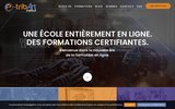 screenshot http://www.e-tribart.fr formation continue infographie - e-tribart