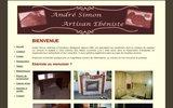 screenshot http://www.ebenistesimon.be artisan ébéniste en belgique, à gembloux
