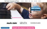screenshot http://www.ecolefrancaisedepiano.fr Cours de piano